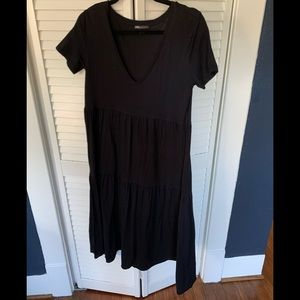 ZARA Black Midi Dress - S
